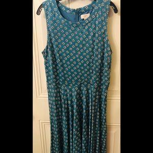 Ann Taylor Loft Sleeveless Print Dress